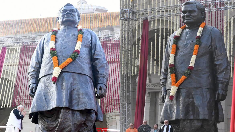 Obtenez des détails sur la statue en bronze de 25 pieds d'Atal Bihari Vajpayee Ji à Lucknow