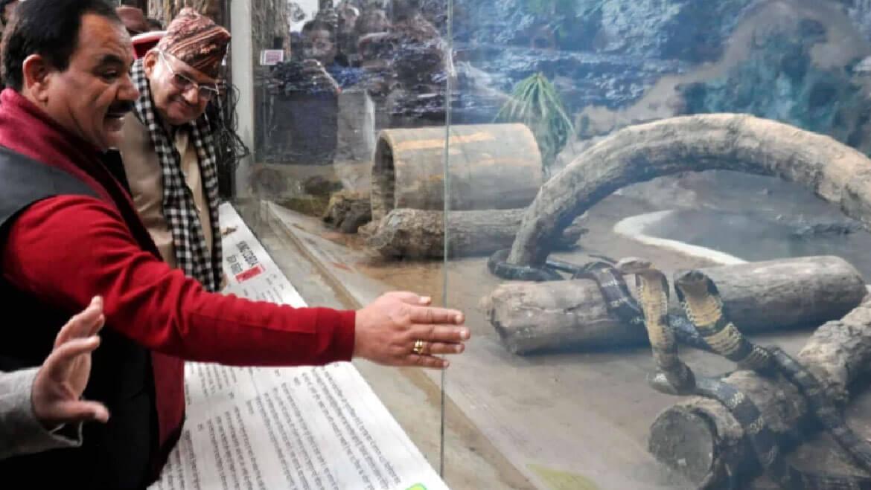Ouverture du Snake Park au zoo de Dehradun