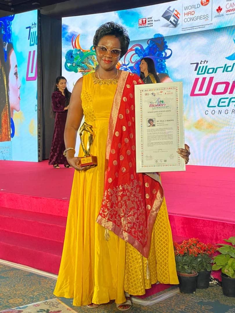 Une femme d'affaires du tourisme en Zambie remporte un prix prestigieux en Inde