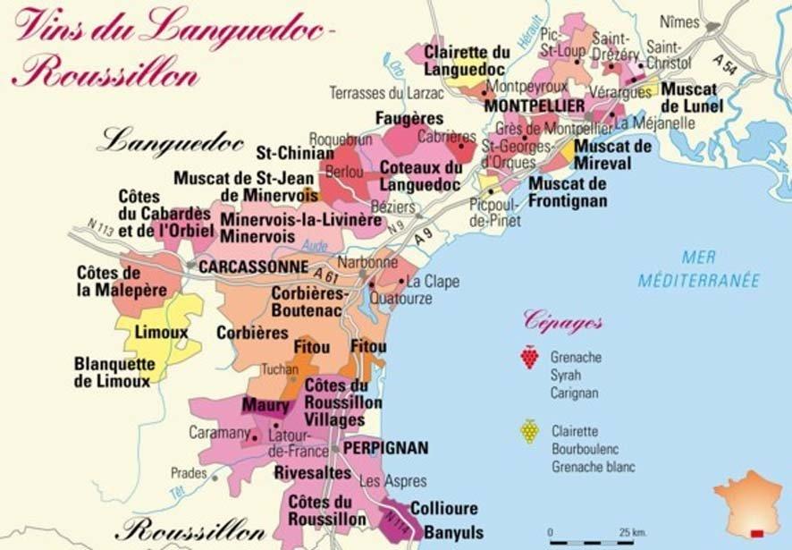 Les vignobles français d'Occitanie