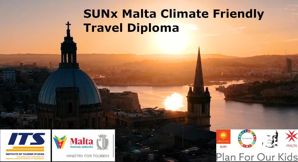 SUNx Malte lance le premier diplôme de voyage respectueux du climat avec ITS