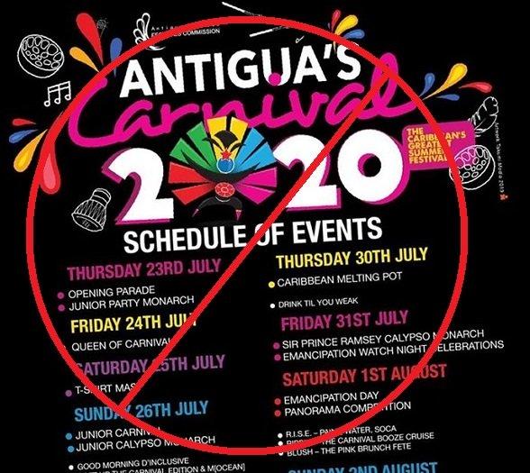 Le carnaval d'Antigua annulé en raison de COVID-19