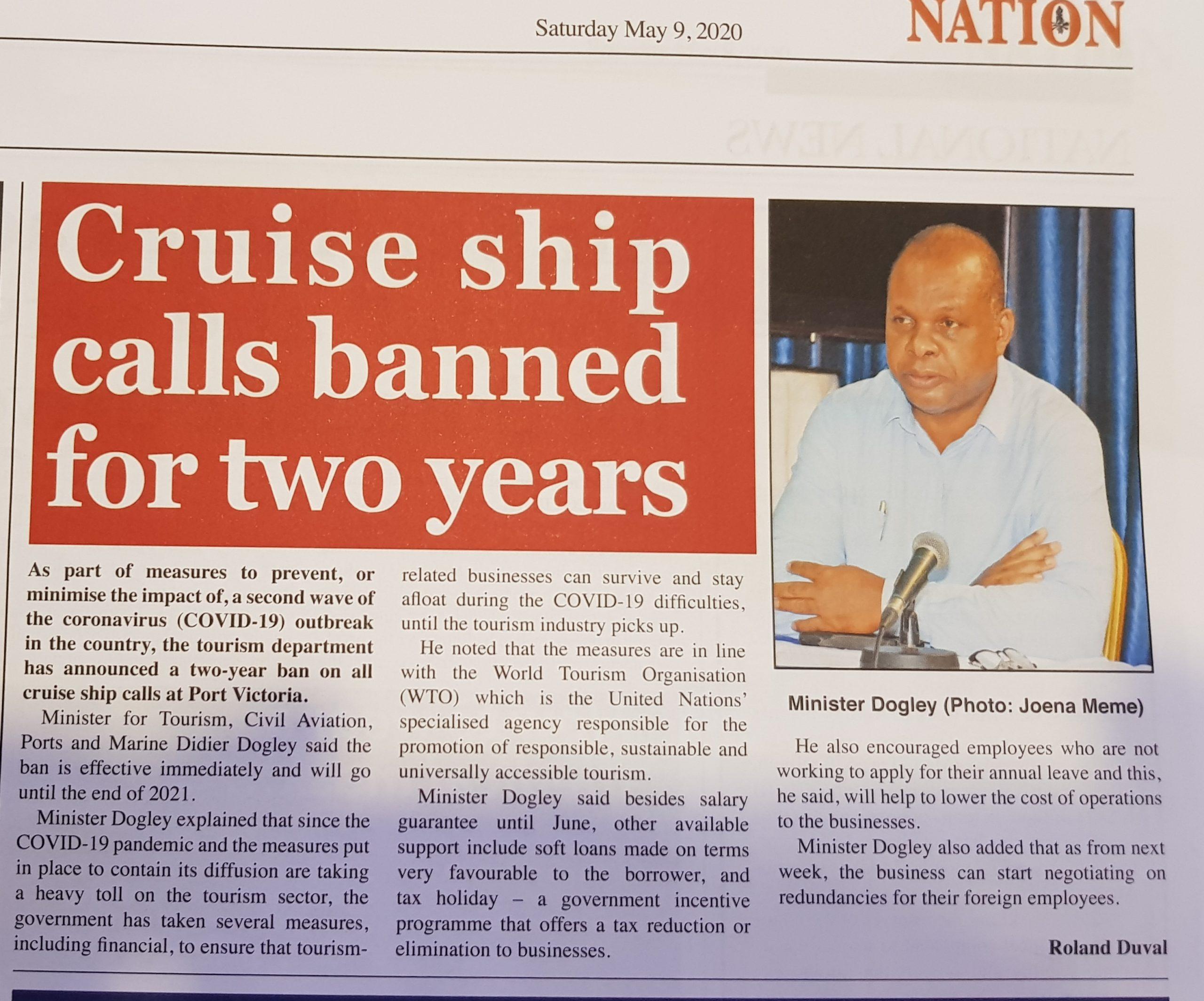 Les navires de croisière interdits pendant deux ans pour éviter une deuxième flambée de COVID-19