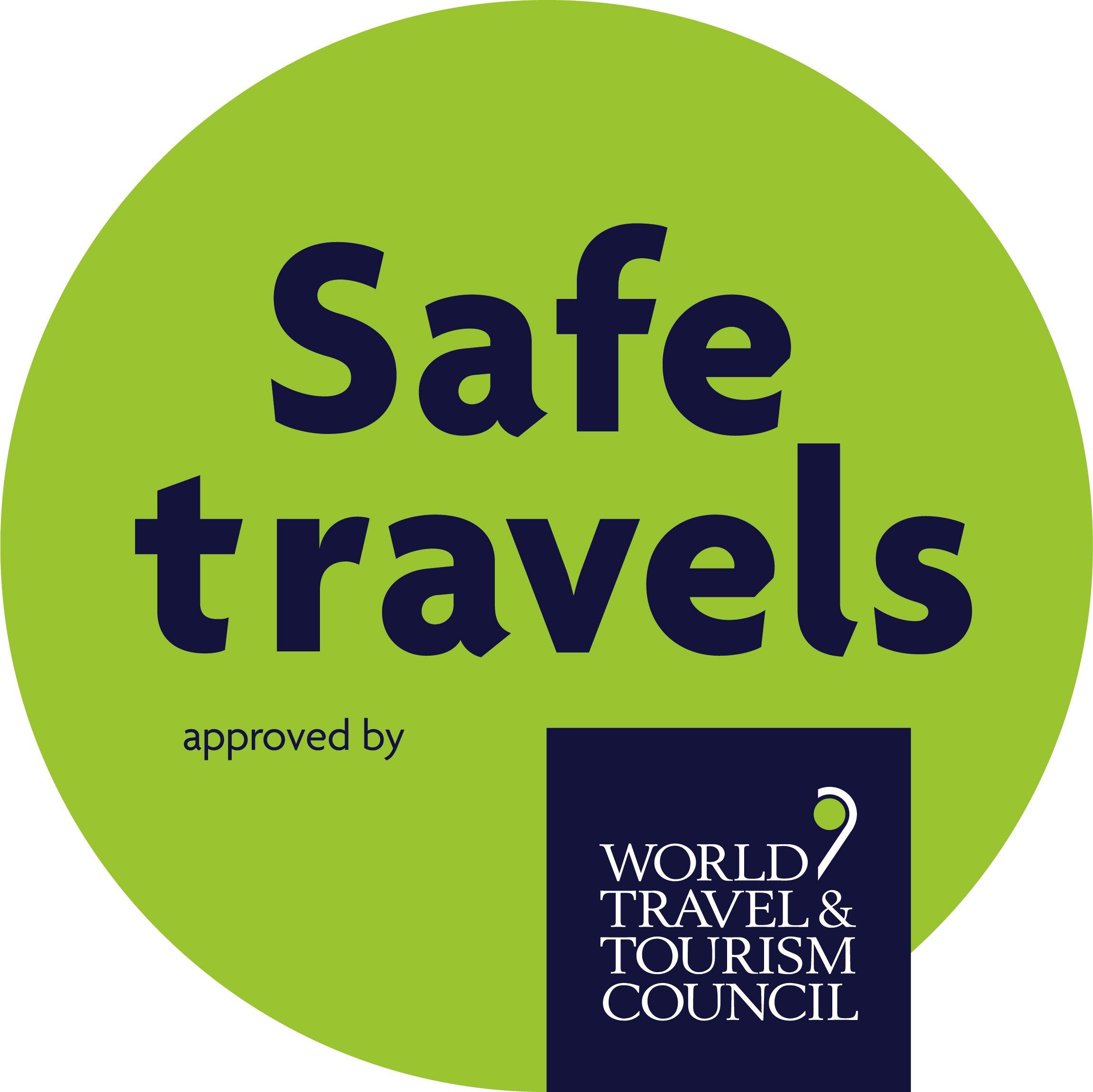 Timbre Safe Travels par WTTC: Rebuilding.travel a une question