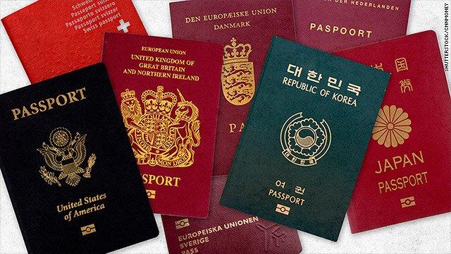 Les passeports européens dominent la liste des dix passeports les plus puissants au monde
