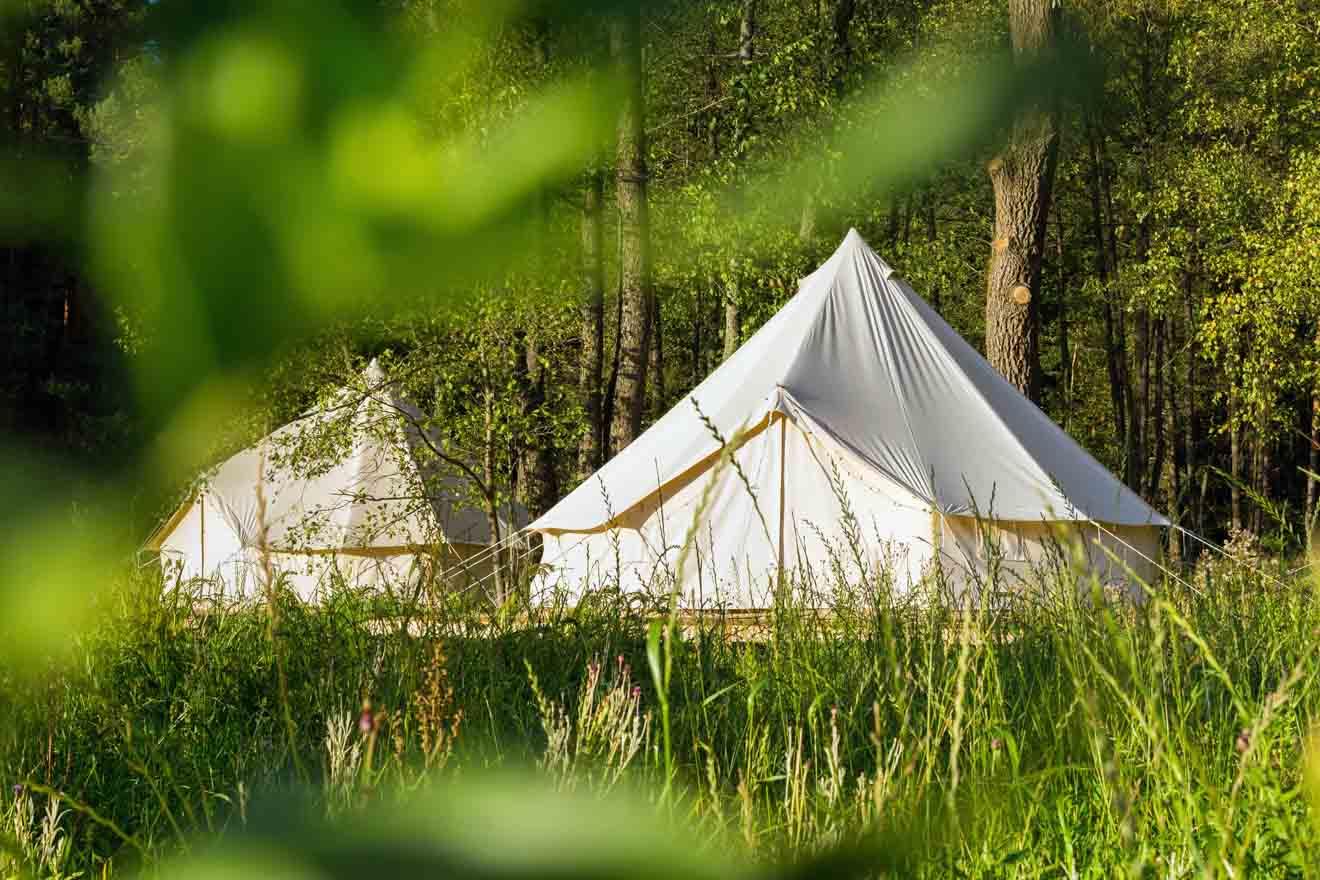 Tentes Glamping où se loger à Glenworth Valley