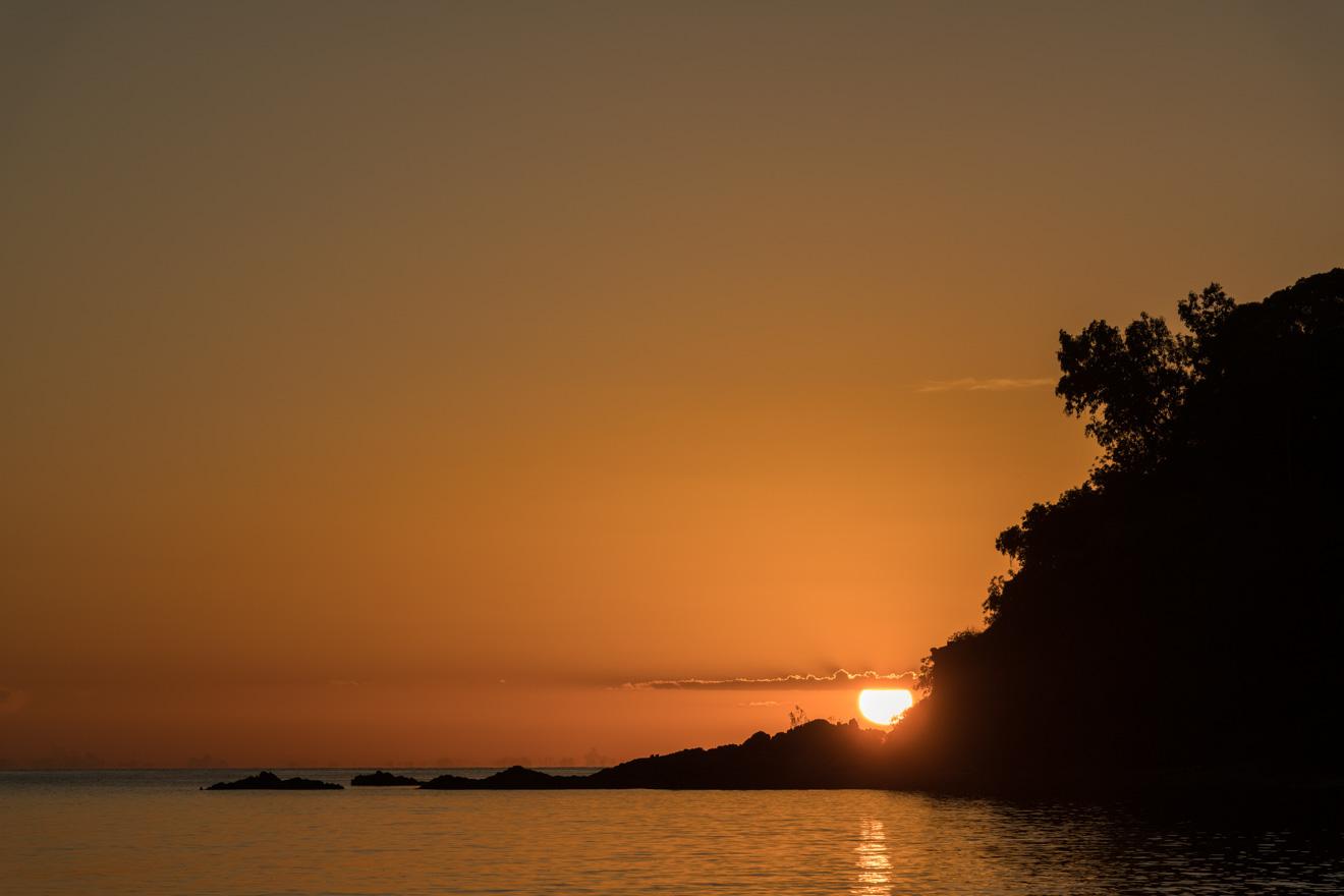 coucher de soleil à couper le souffle à port douglas