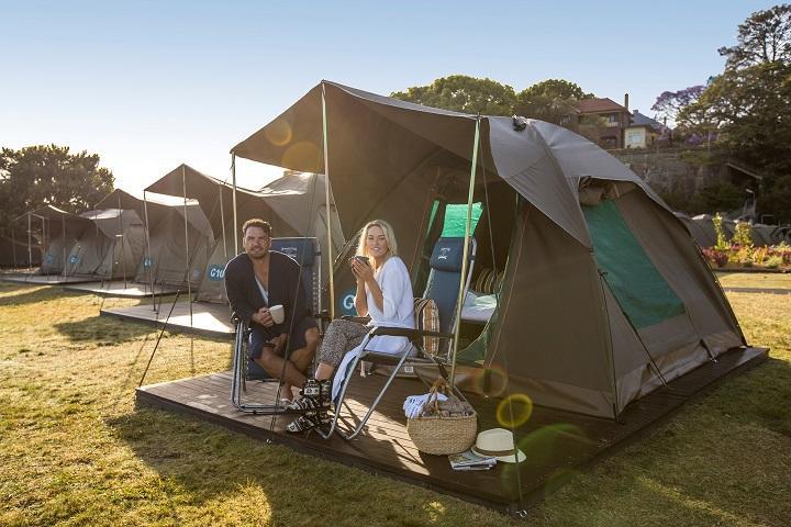 Tente Cockatoo Island camping ouvert