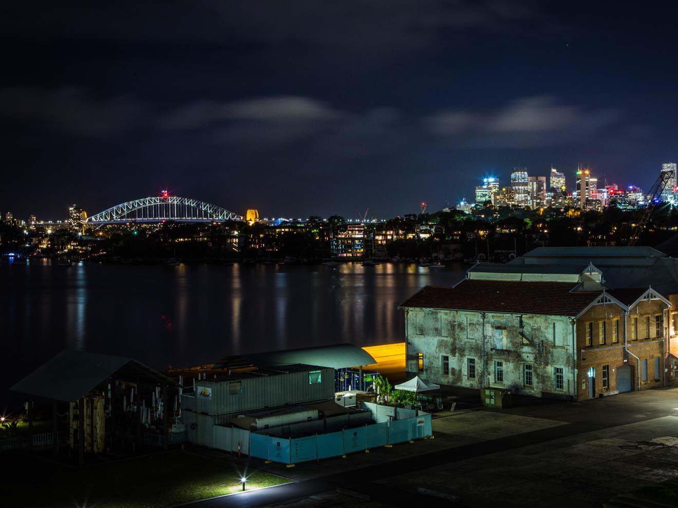 Vue sur les toits de Sydney depuis Cockatoo Island