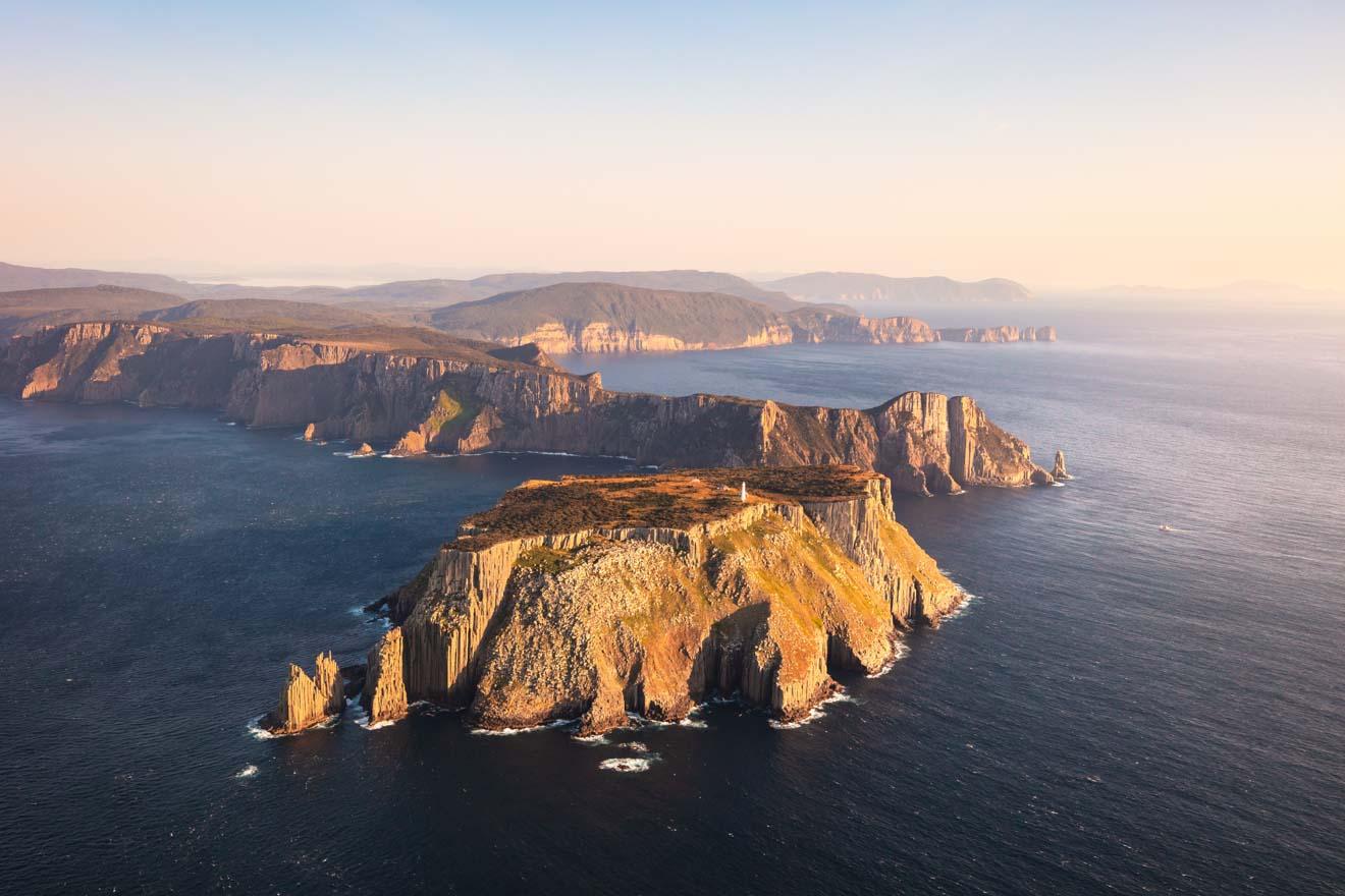 Découvrez la Tasmanie - vue sur la côte sud-est de la Tasmanie Port Arthur