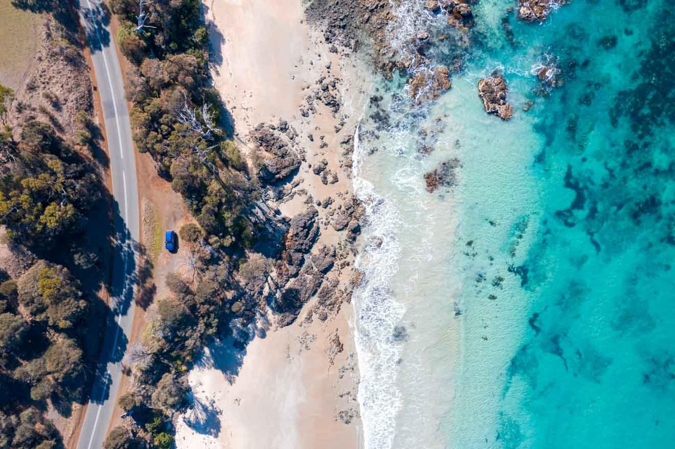 belle côte Que faire à Port Arthur plage blanche