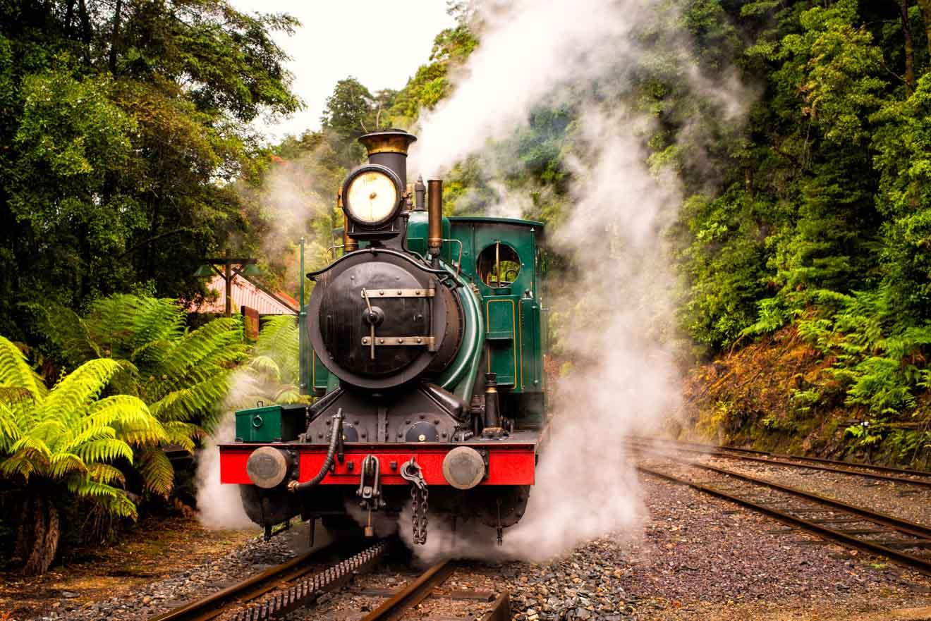 Visite de la Tasmanie en West Coast Wilderness Railway