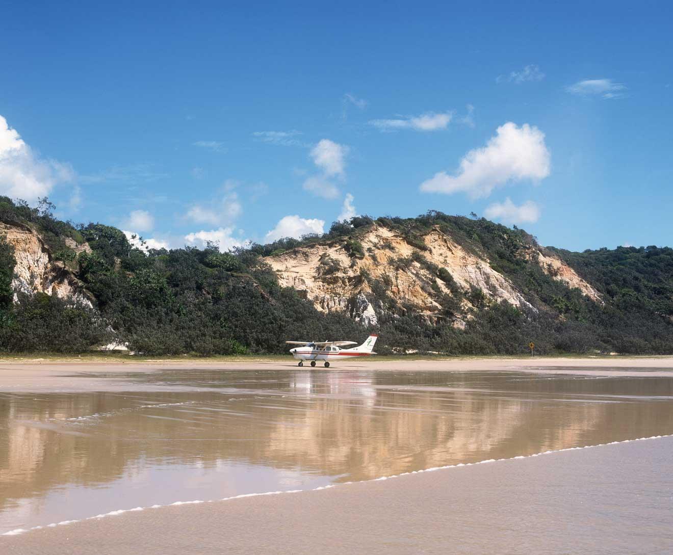sables colorés dans l'île fraser