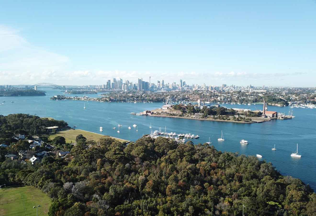 Vue aérienne de Cockatoo Island, Sydney Tour