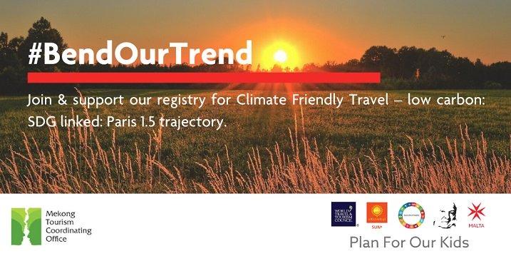 PLIEZ NOTRE TENDANCE Campagne pour des voyages respectueux du climat dans le Mékong