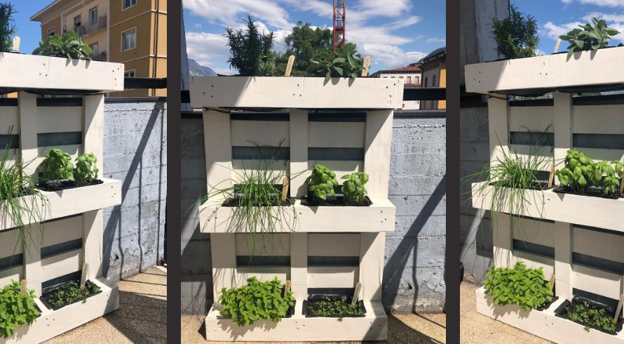 Comment créer un jardin vertical en palettes pour votre maison ou chambre d'hôtes