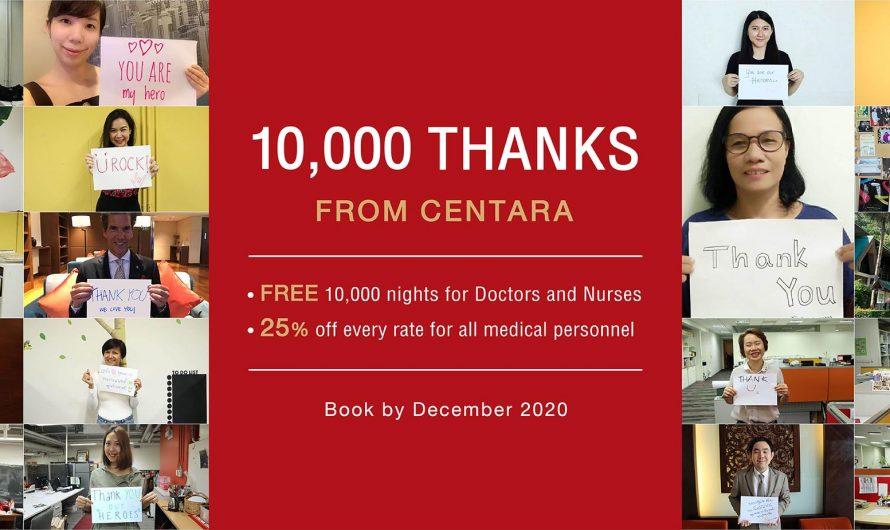 Centara fait don de 10 000 nuitées à des héros médicaux