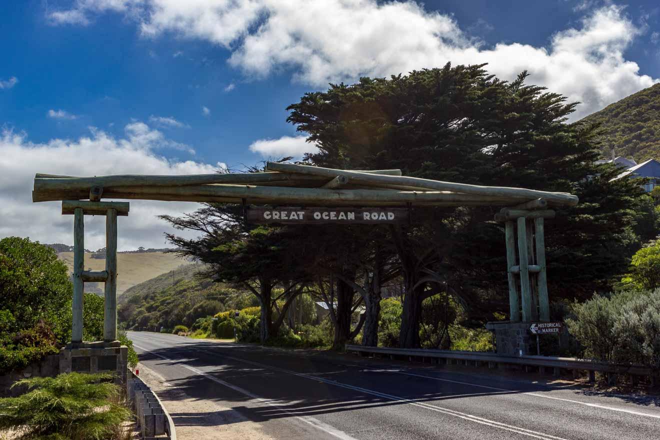 Great Ocean Road Attractions Map - Wooden Gate Itinéraire de Great Ocean Road