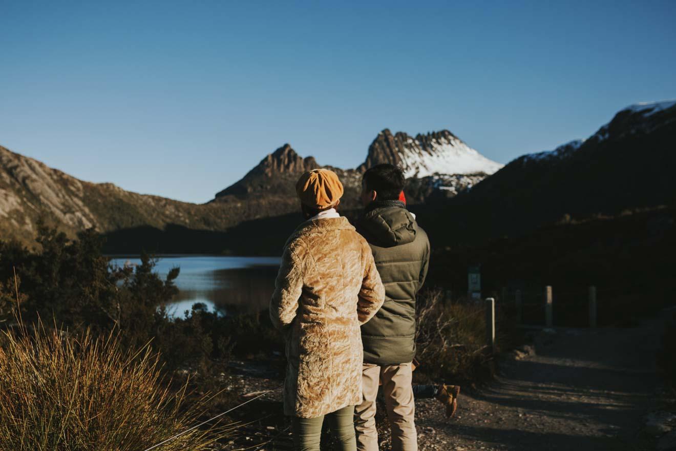 Cradle Mountain en une journée - Vue Que faire à Cradle Mountain en hiver? - Cradle Mountain
