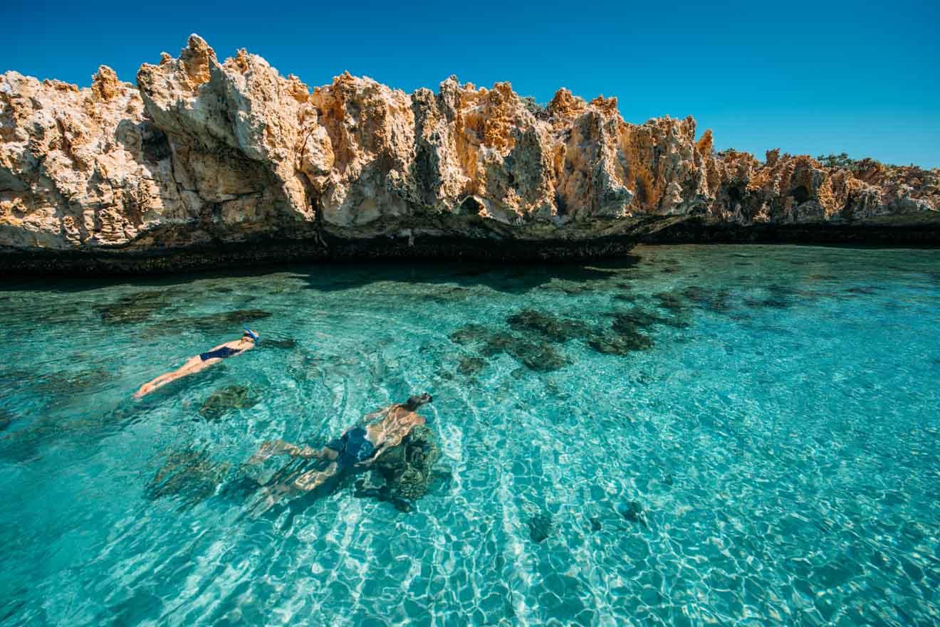 Activités de plongée en apnée Dirk Hartog Island à Shark Bay, Australie