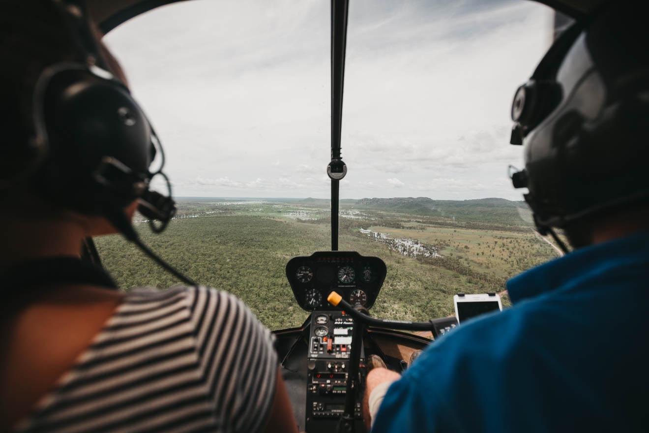 Vol panoramique en hélicoptère Que faire dans le parc national de Kakadu Tourisme