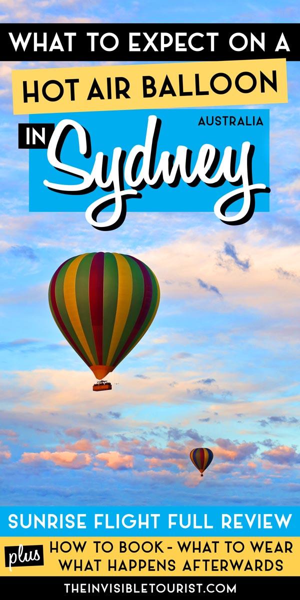 Montgolfière Sydney: à quoi s'attendre et conseils utiles avant de partir | The Invisible Tourist