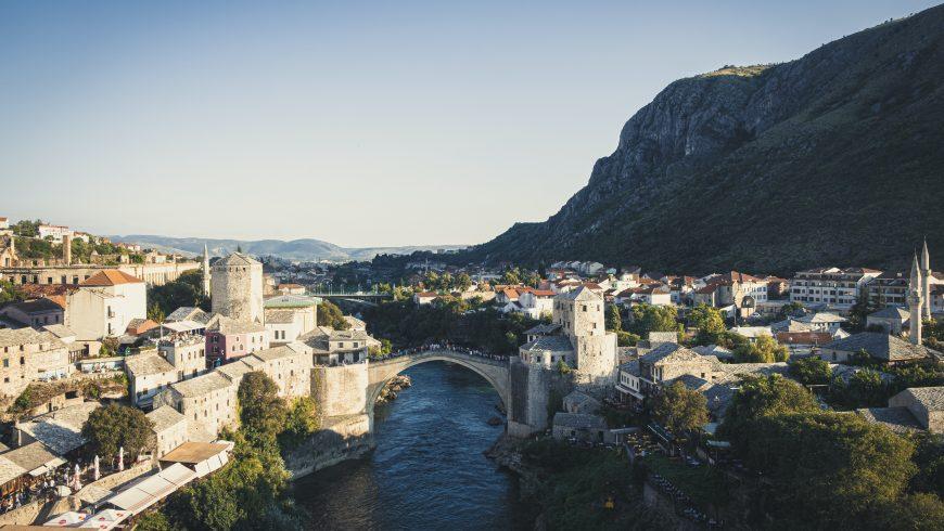Mostar, Bosnie-Herzégovine, l'une des destinations touristiques les moins connues et impopulaires d'Europe
