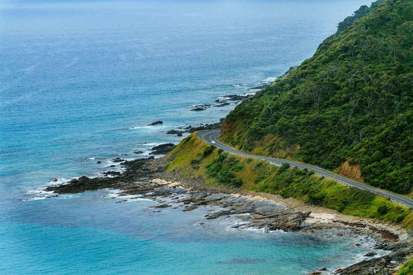 Carte des attractions de Great Ocean Road - Itinéraire Mountain Great Ocean Road