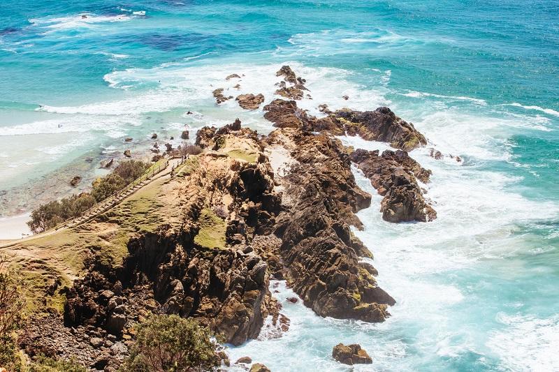 Littoral à Byron Bay en Australie