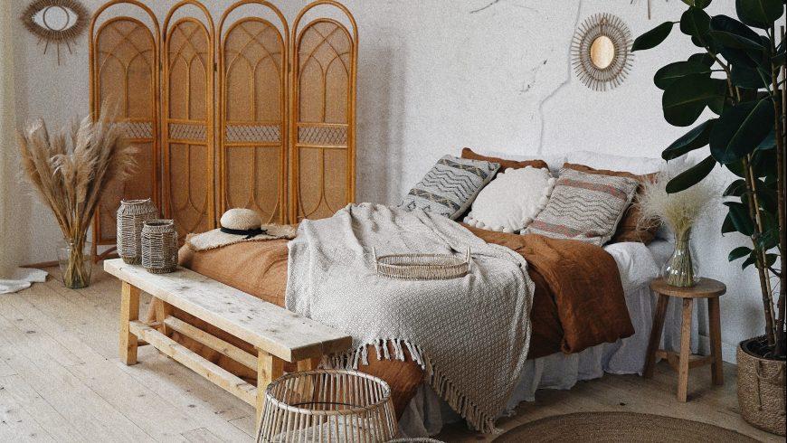 matériaux naturels de chambre à coucher