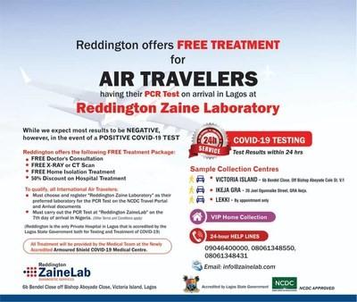 Le Nigéria offre aux voyageurs aériens internationaux un accès gratuit au traitement COVID-19