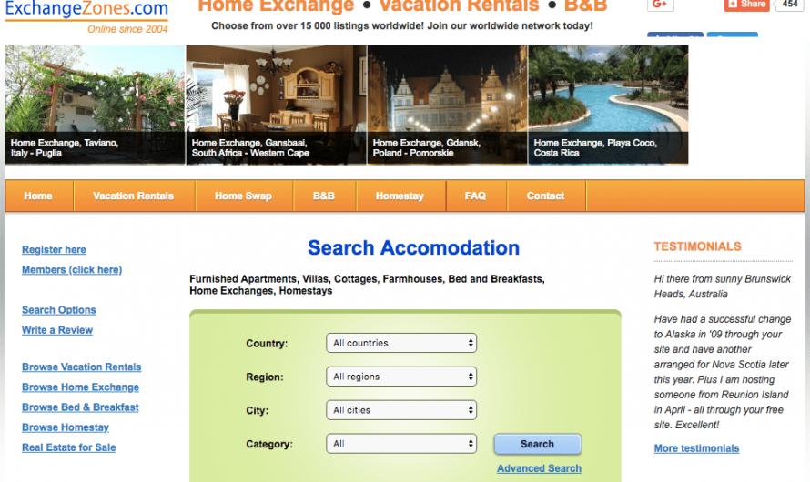 Examen du réseau d'échange à domicile ExchangeZones