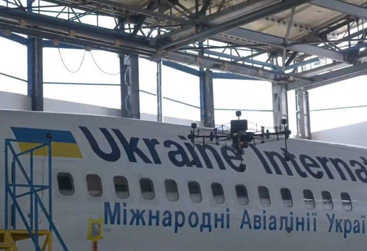 Ukraine International Airlines utilise la numérisation par drone pour les inspections d'aéronefs