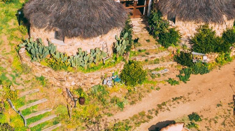 Pinettos, anciennes cabanes sardes