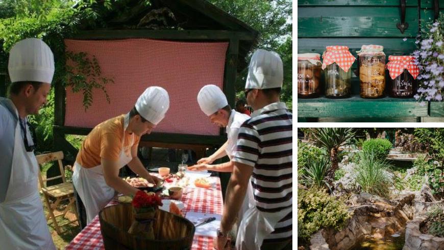 Cuisine familiale Kalpić, pots de confiture et jardins