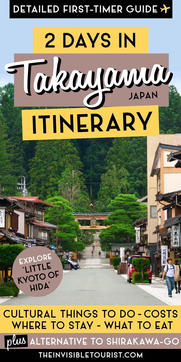 Itinéraire de 2 jours à Takayama: découvrez le charme et la culture du vieux monde | Le touriste invisible