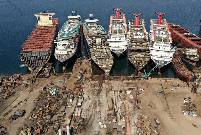 La destruction des navires de croisière est une grosse affaire en Turquie