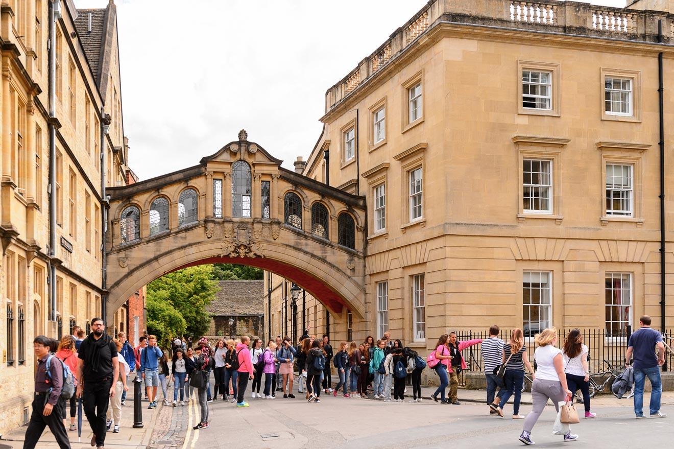 11 choses à faire à Oxford Bridge of Sighs