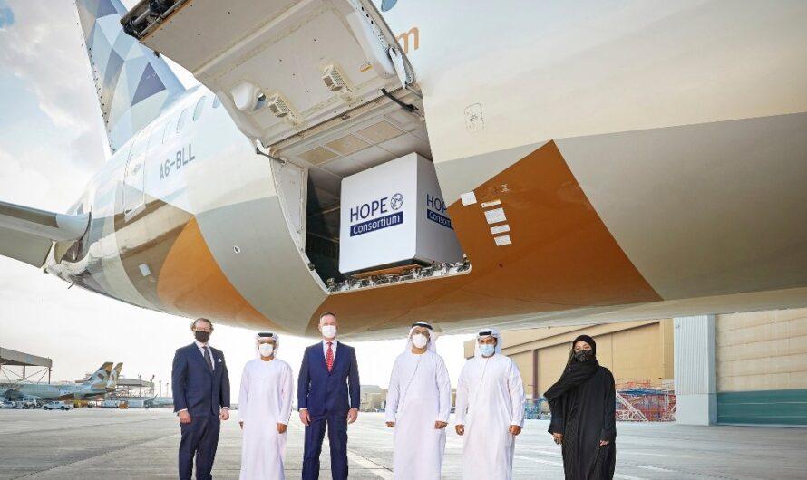 Le Consortium Hope fait voler 2 millions de vaccins COVID-19 à Abu Dhabi