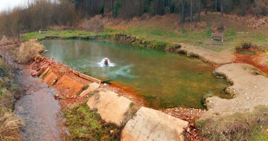 Source thermale de Kalameny en Slovaquie