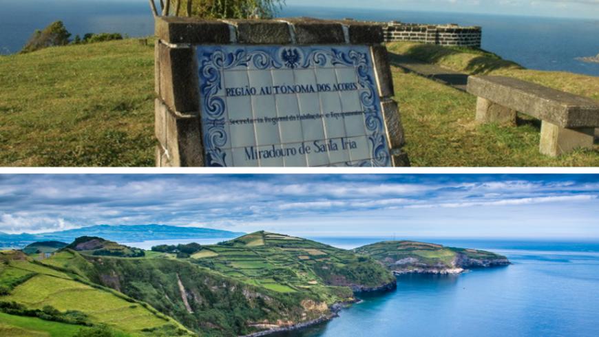 Miradouro de Santa Iria.  Île de Sao Miguel, Açores