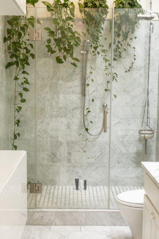douche, salle de bain verte