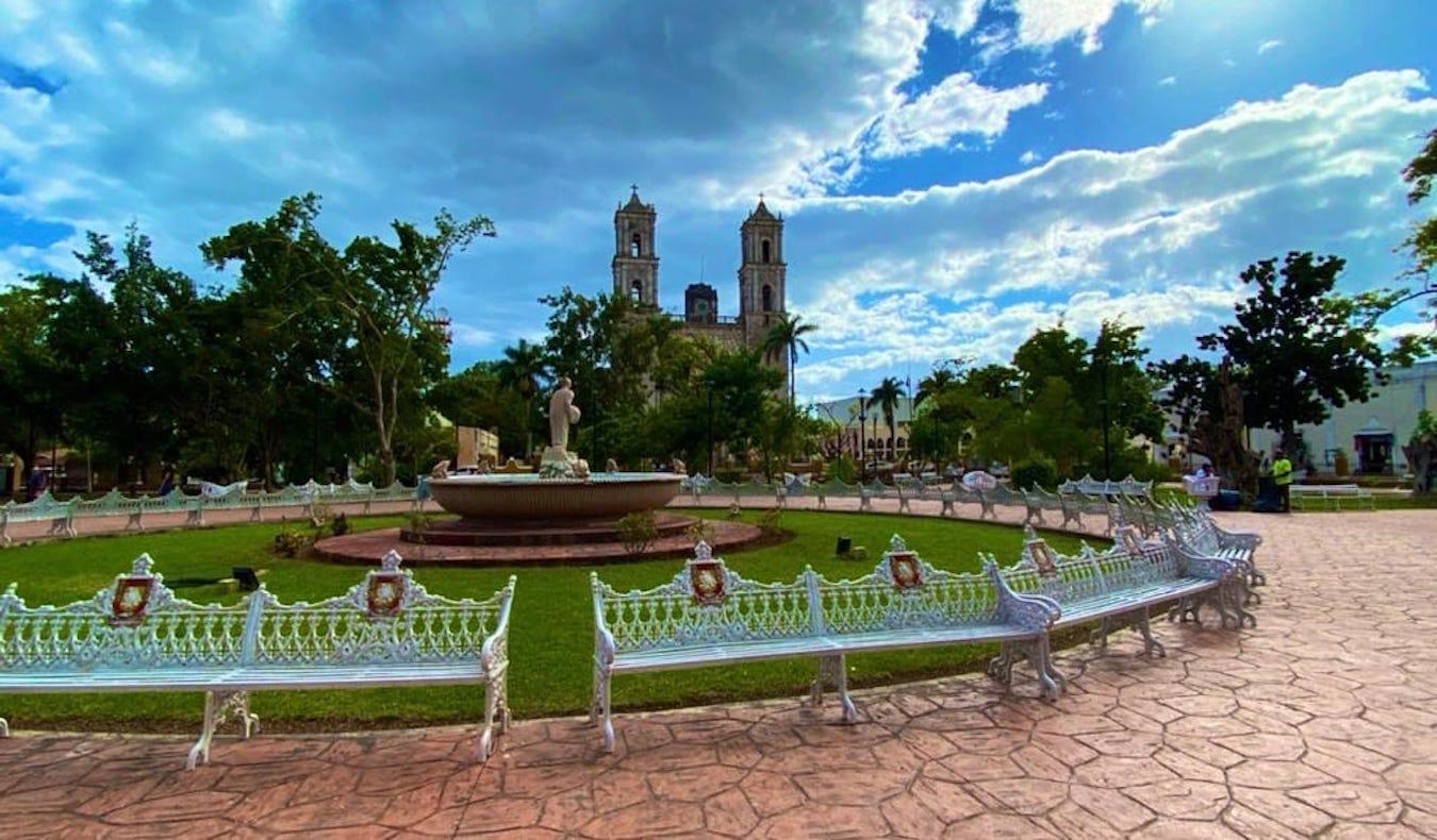 Un parc relaxant au Mexique