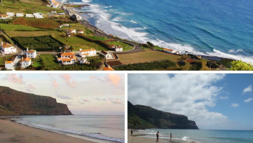 Praia Formosa.  Plage Açores