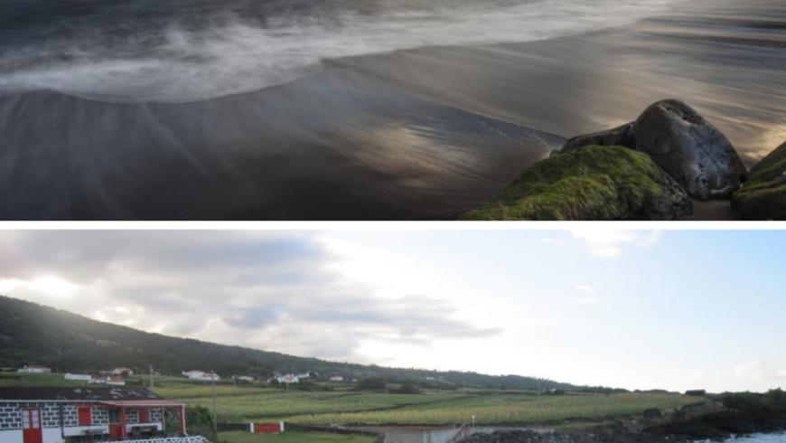 Canto do Areia.  Plage des Açores.