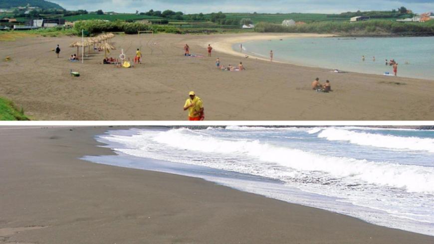 Praia da Riviera.  Plage des Açores.