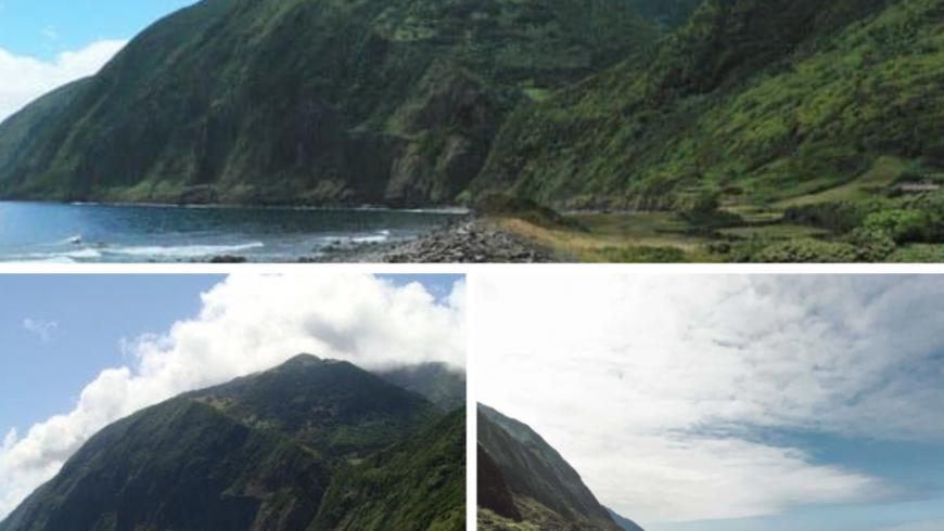 Fajã da Caldeira do Santo Cristo.  Plage des Açores.