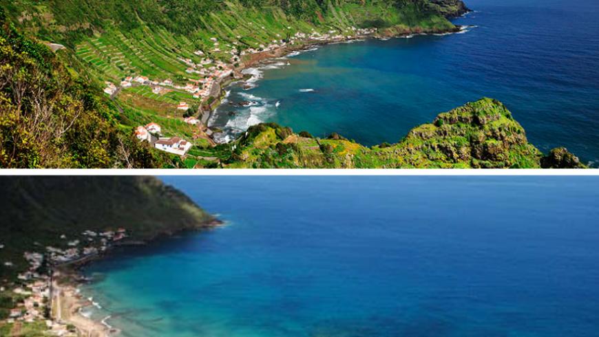 São Lourenço.  Plage des Açores.