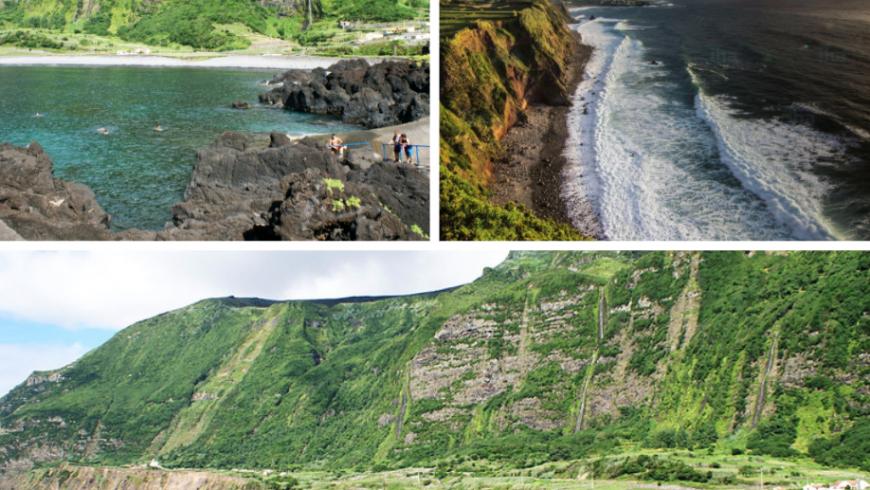 Praia Fajã Grande.  Plage Açores
