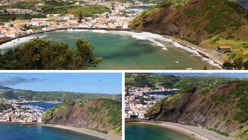 Porto Pim.  Plage des Açores.